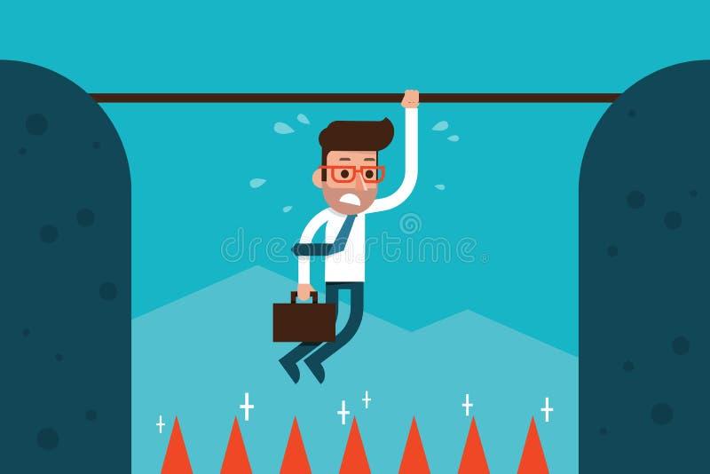 Zakenman in risico vector illustratie