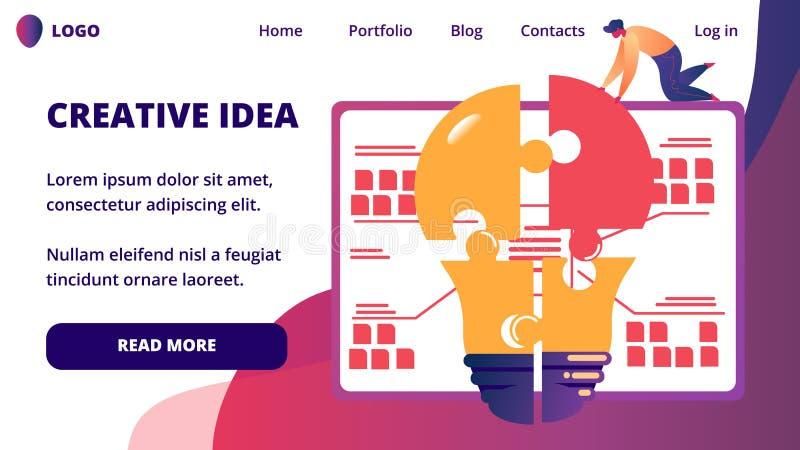 Zakenman Searching Idea voor Zakelijk project royalty-vrije illustratie