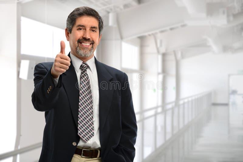 Zakenman Showing Thumbs Up stock fotografie