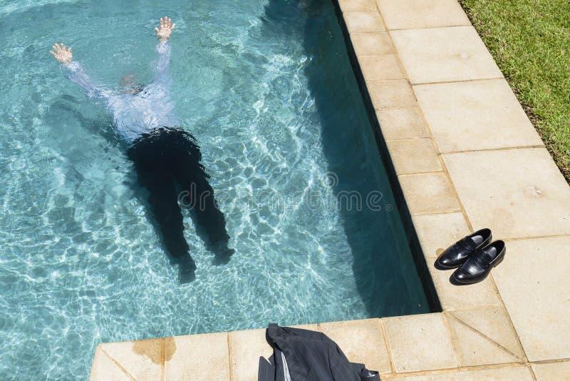 Zakenman Underwater royalty-vrije stock fotografie