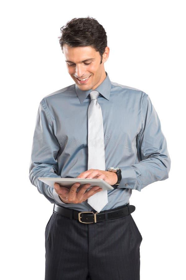 Zakenman Using Digital Tablet Royalty-vrije Stock Fotografie