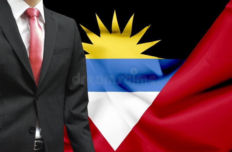 Zakenman van Antigua en het conceptuele beeld van Barbuda royalty-vrije stock foto's