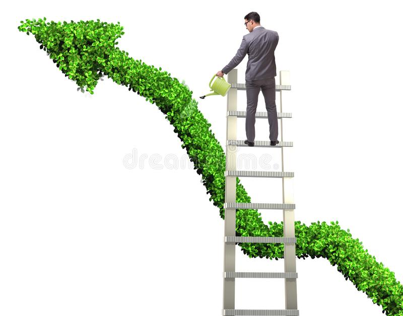 Zakenman in verantwoordelijke ecologische zaken royalty-vrije stock foto