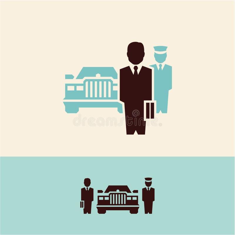 Zakenman Werkgever Bankier stock illustratie