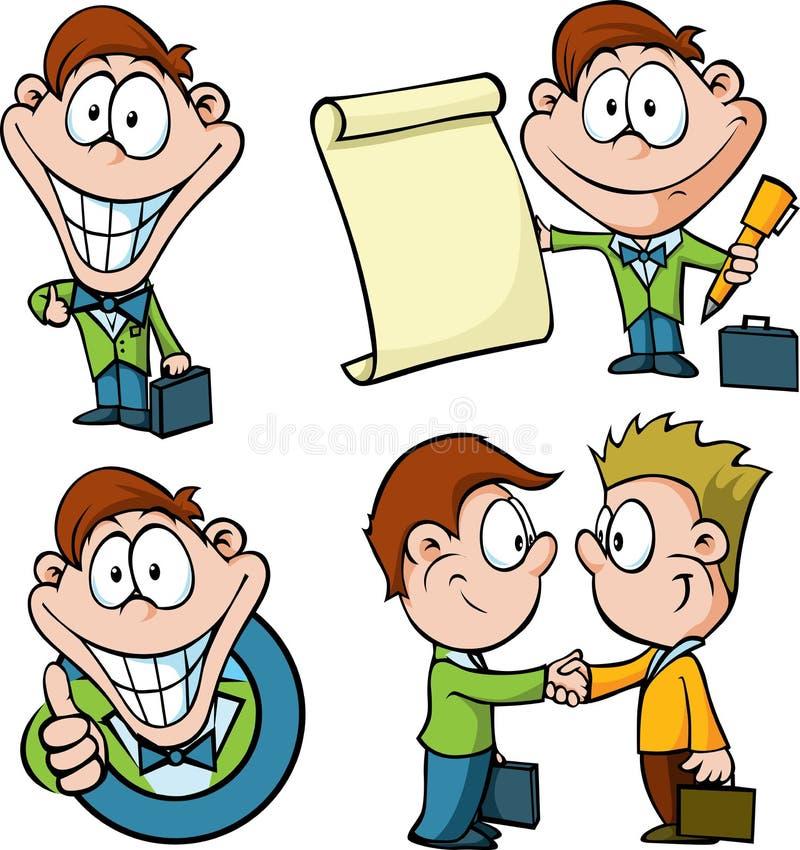 Zakenmanbeeldverhaal vector illustratie