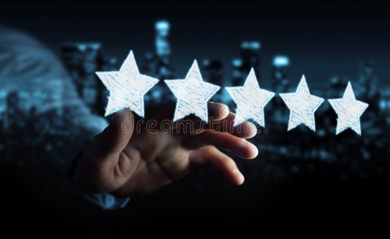 Zakenmanclassificatie met hand getrokken sterren royalty-vrije illustratie