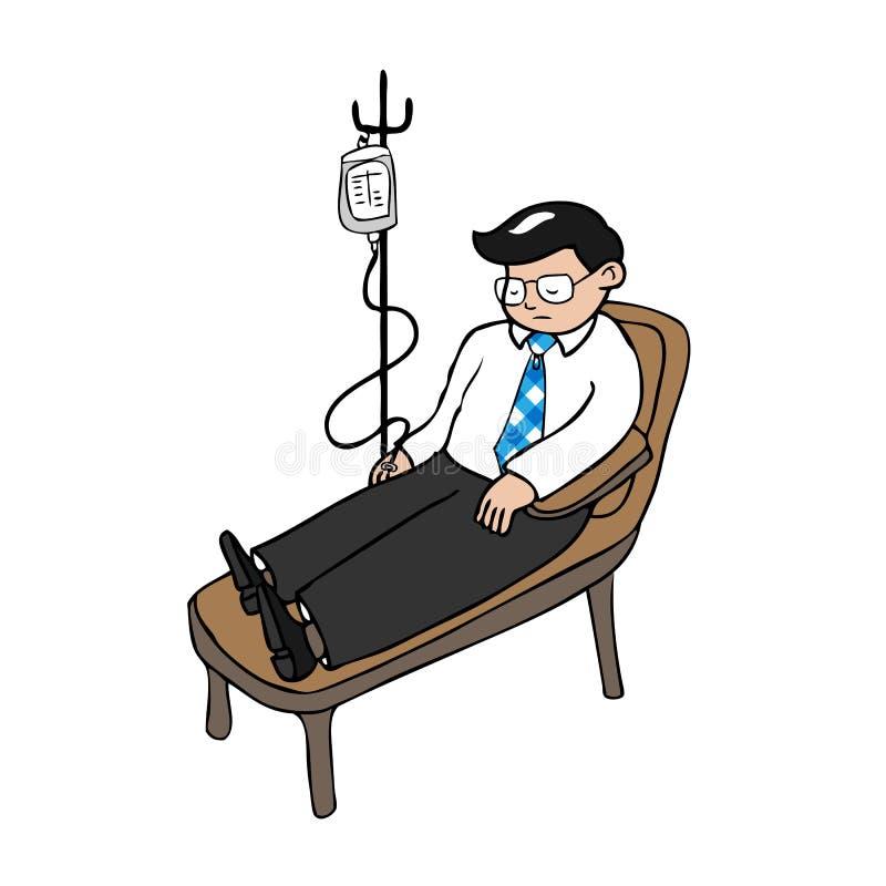 Zakenmaninfusie royalty-vrije illustratie