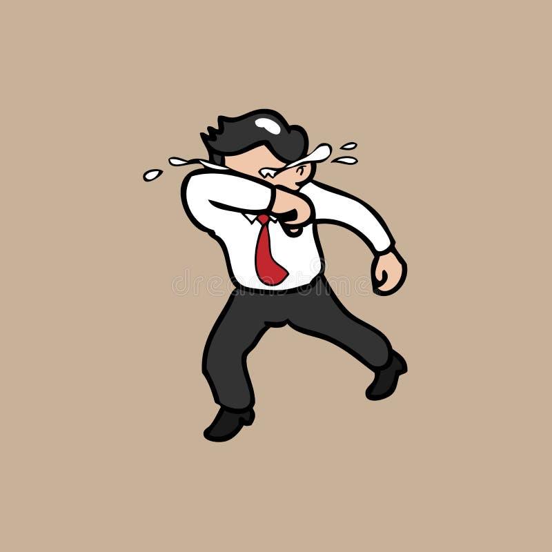 Zakenmanlooppas en schreeuw vector illustratie