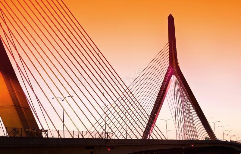 Zakim地堡在波士顿,马萨诸塞,美国 免版税库存照片