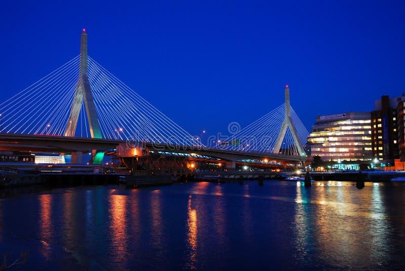 Zakim桥梁,波士顿 库存照片