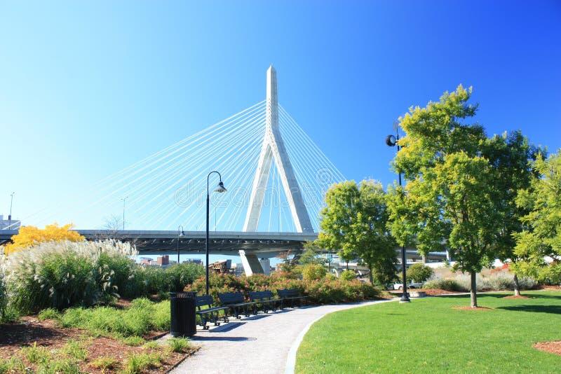 Zakim Brücke Boston lizenzfreies stockfoto