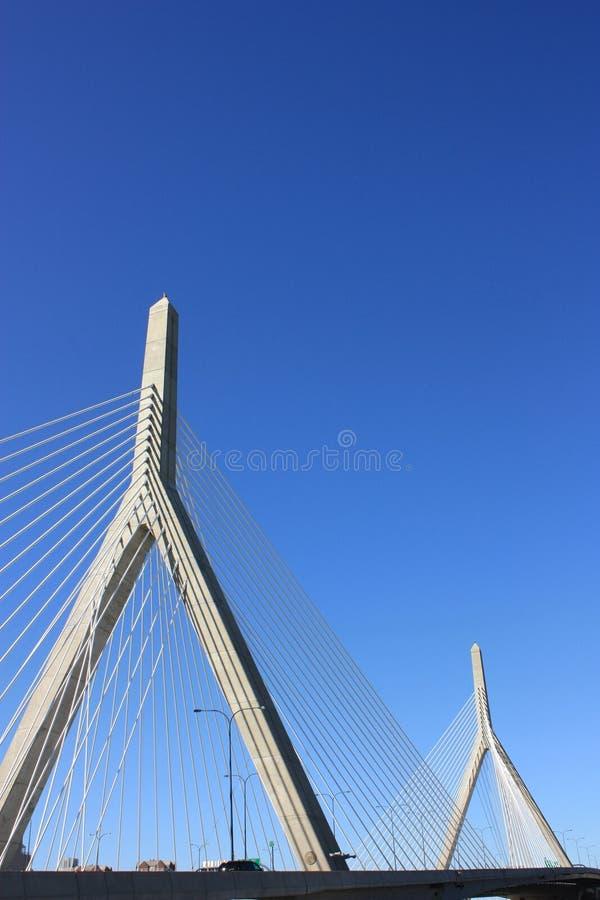 Zakim Brücke Boston lizenzfreie stockfotos