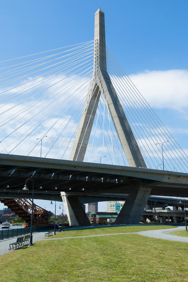 Download Zakim Bridge From Paul Revere Park In Boston Stock Photo - Image: 26621604