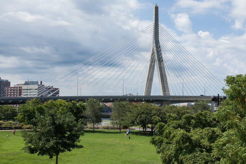 Download Zakim Bridge From Paul Revere Park In Boston Stock Image - Image: 26621607