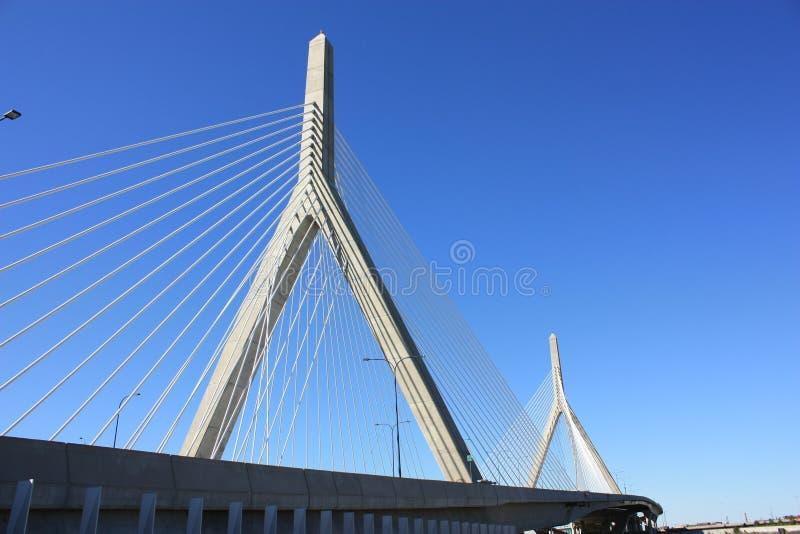 zakim de passerelle de Boston images stock