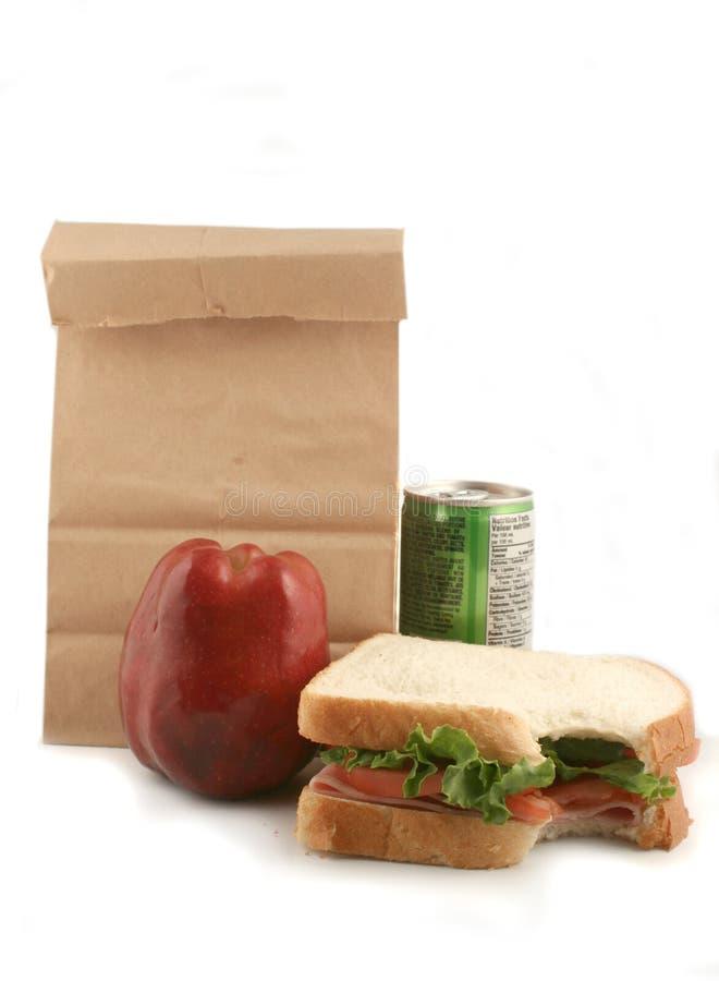 In zakken gedane lunch royalty-vrije stock foto