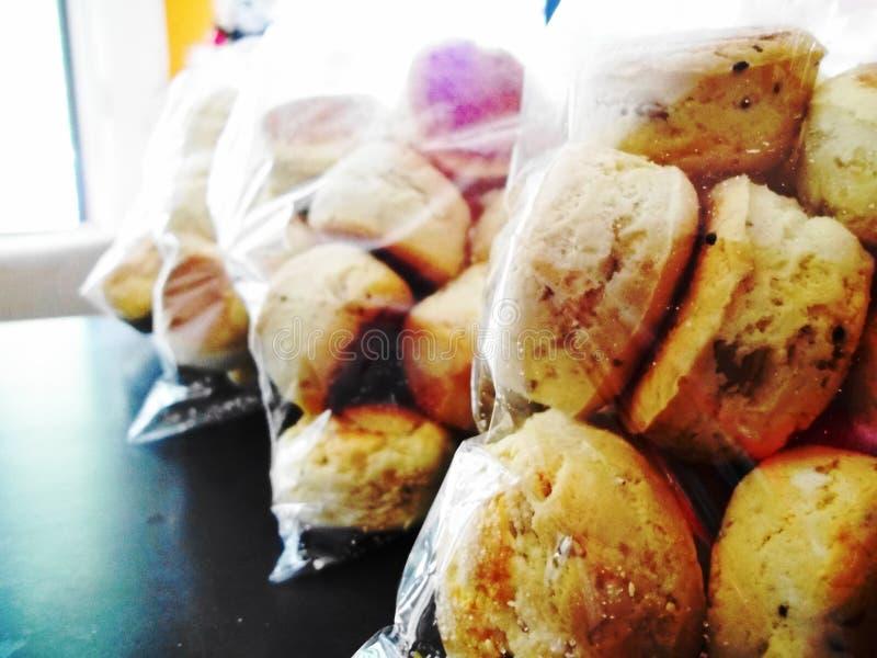 Zakken van scones stock afbeelding