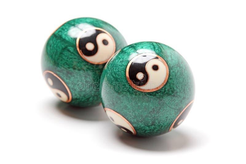 Zakończenia yin Yang piłki. zdjęcie stock