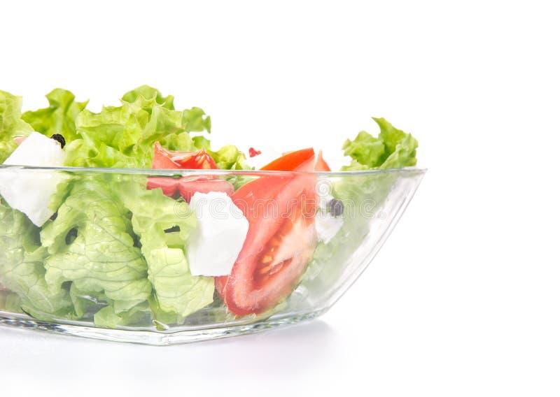 Zakończenia zdrowy jedzenie - zielony salat zdjęcia stock