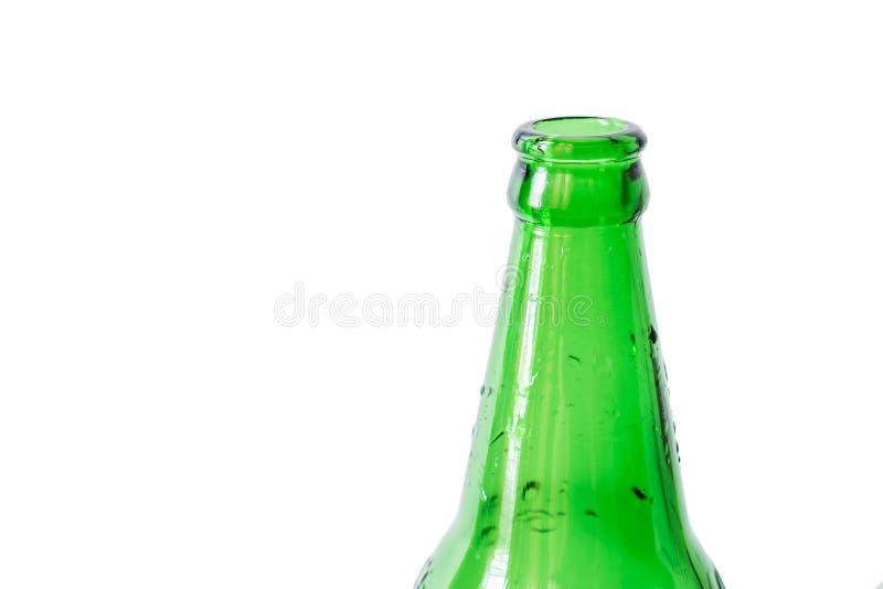 Zakończenia zielony bottleneck, odosobniony na białym tle zdjęcia stock