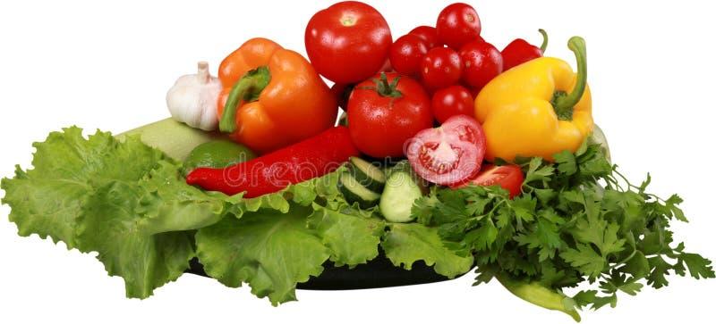 Zakończenie świezi warzywa odizolowywający na bielu zdjęcie stock