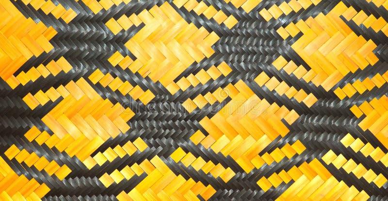 Zakończenie bambusa wzoru up wyplatać torebki i koszykarski omijanie na społeczności indentity obrazy royalty free