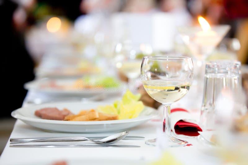 Zakończenie cateringu stołu set obrazy royalty free