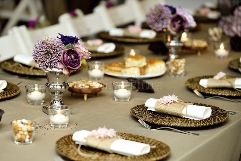 Zakończenie cateringu stołu set obraz royalty free