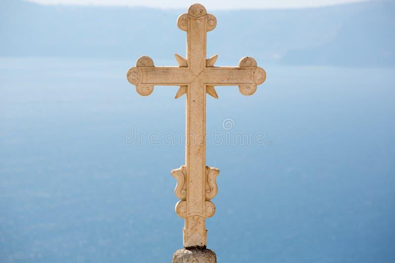 Zakończenie Fenomenalny Sculpted ortodoksyjny krzyż zdjęcie stock