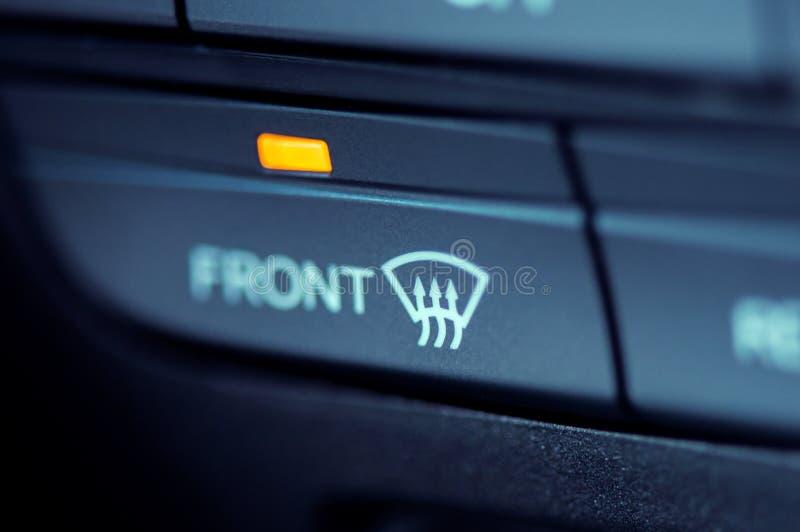 Zakończenie frontowego okno nagrzewacza ikona zdjęcia royalty free