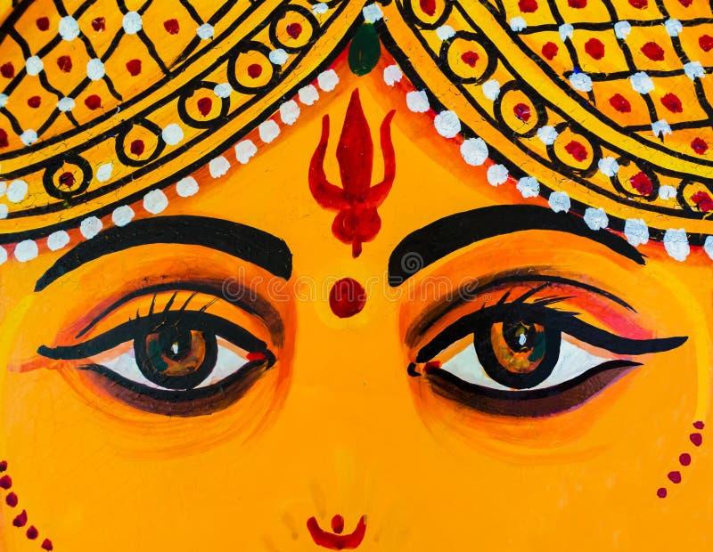 Zakończenie Ganesh ` s ono przygląda się, ścienny obraz w Udaipur miasta pałac, India obraz stock