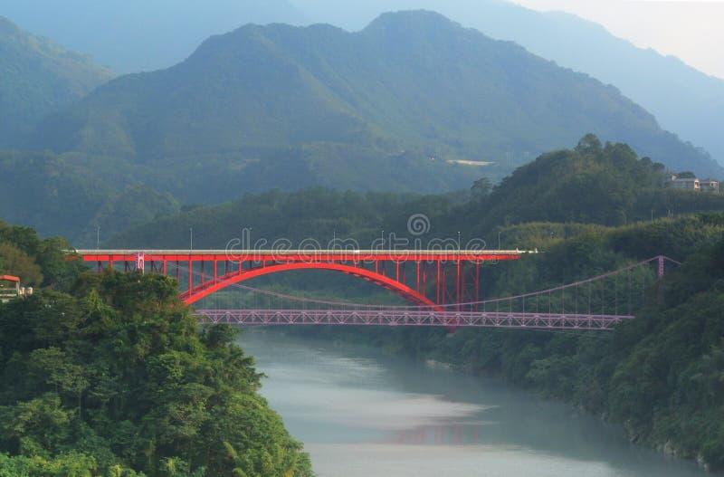 Zakończenie mosty w Taoyuan Tajwan fotografia stock