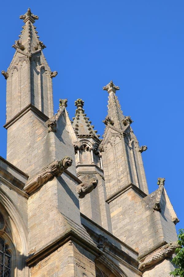 Zakończenie na gargulecach katedra Ely w Cambridgeshire, Norfolk, UK fotografia royalty free
