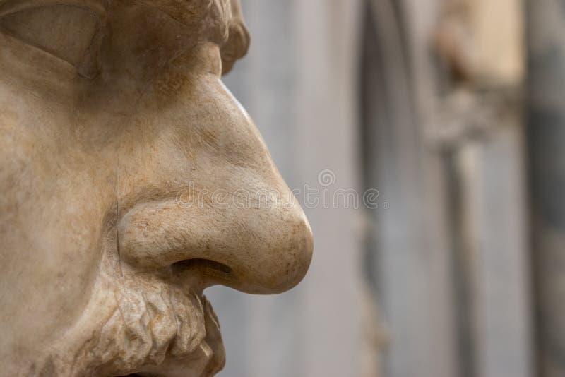 Zakończenie nos statua obraz royalty free