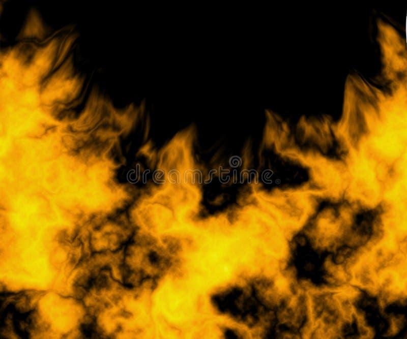 Zakończenie ogień i płomienie obrazy royalty free