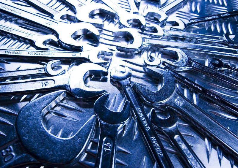 zakończenie otwarte klucze zdjęcie stock