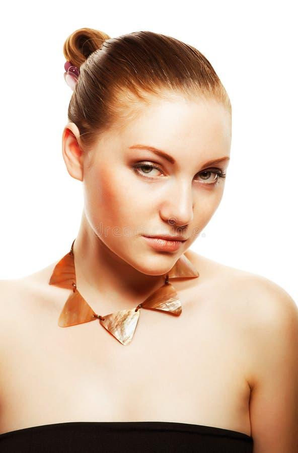 Zakończenie portret beautifulwoman zdjęcie royalty free