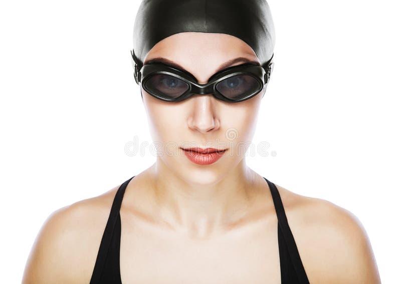 Zakończenie portret pływaczka obraz royalty free