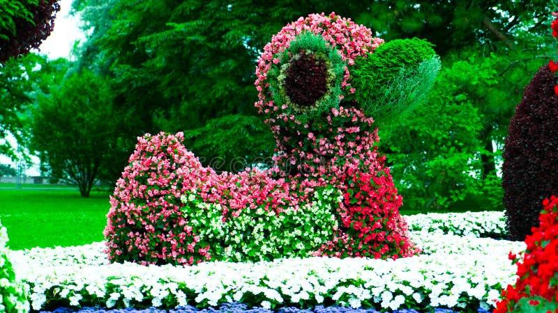 Zakończenie postać kaczki robić od kwiatów obrazy stock