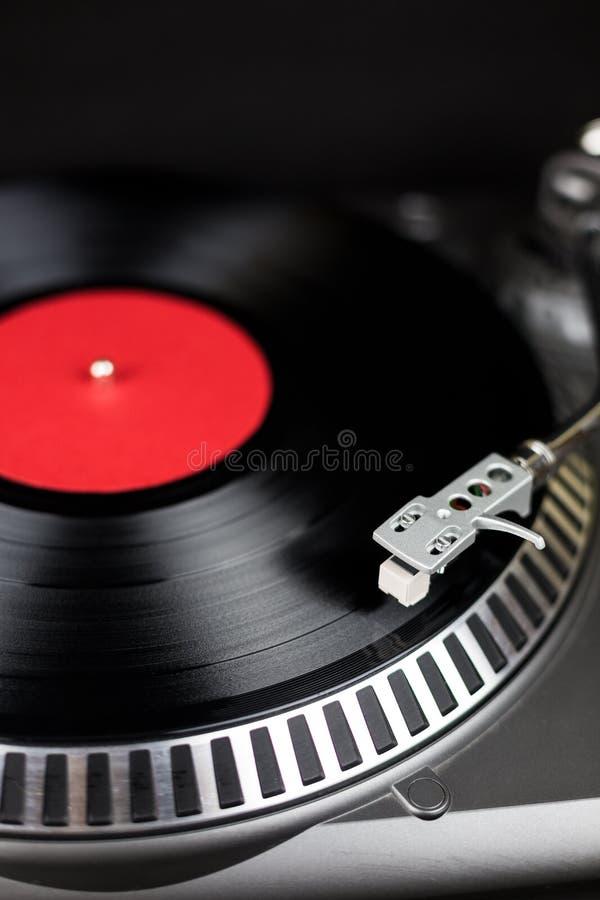 Zakończenie profesjonalisty przyjęcia djs turntable Analogowej sceny audio wyposażenie dla koncerta w klubie nocnym Sztuki miesza fotografia stock