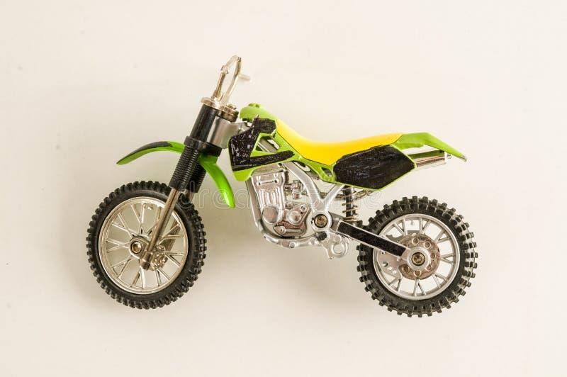 Zakończenie przecinająca motocyklu motocyklu zabawka fotografia royalty free