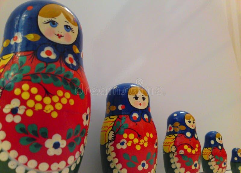 Zakończenie rodzina Rosyjskie lale zdjęcia royalty free