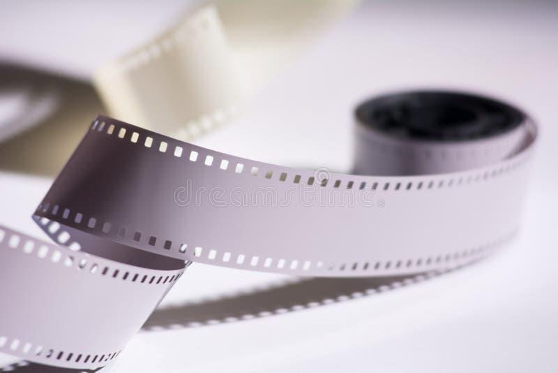 Zakończenie rolka z negatywnym filmem Odbitkowa przestrzeń dla zawiadomienia zdjęcia royalty free