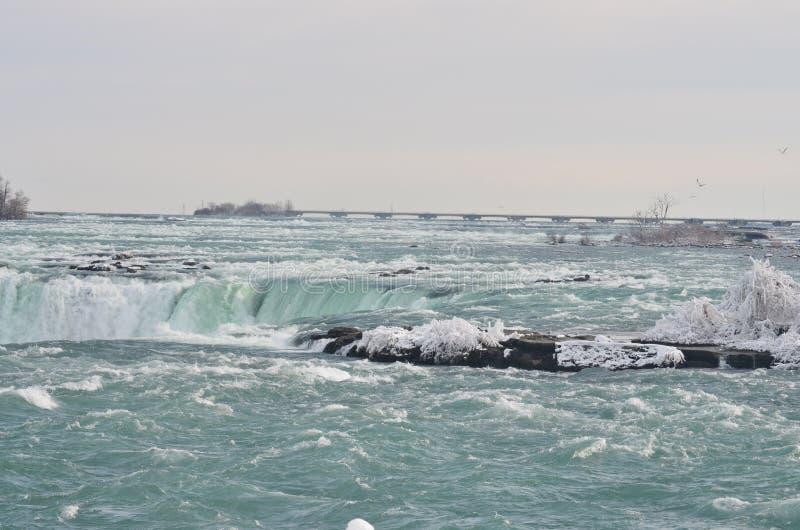 zakończenie spadać Niagara spadać zdjęcia stock