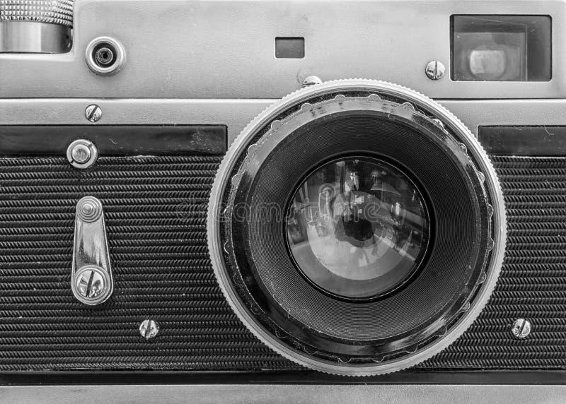 Zakończenie stara rocznik kamera zdjęcie royalty free