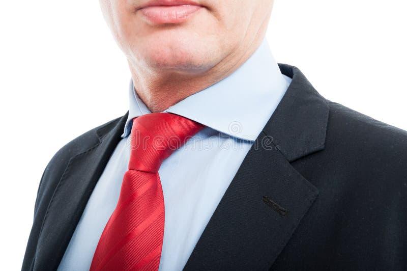Zakończenie starsza biznesowego mężczyzna koszula i krawat zdjęcie stock