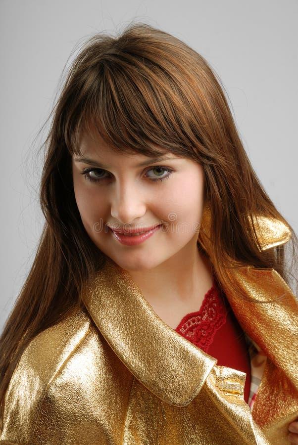 Zakończenie szczęśliwa młoda kobieta obrazy royalty free