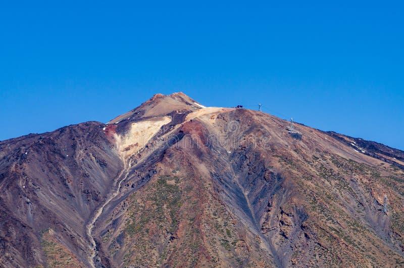 Zakończenie Teide góry szczyt fotografia stock
