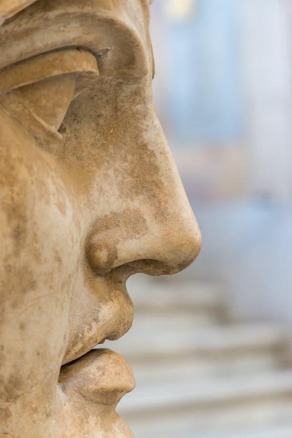 Zakończenie twarz statua obraz royalty free