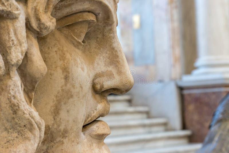 Zakończenie twarz statua obrazy stock